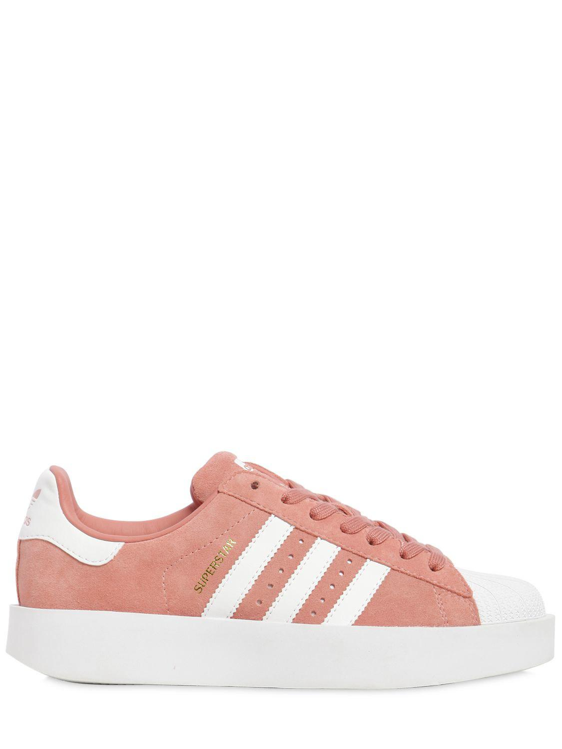 finest selection 37b5a 32501 ... ireland adidas originals superstar bold leather sneakers in pink lyst  f060c 90528