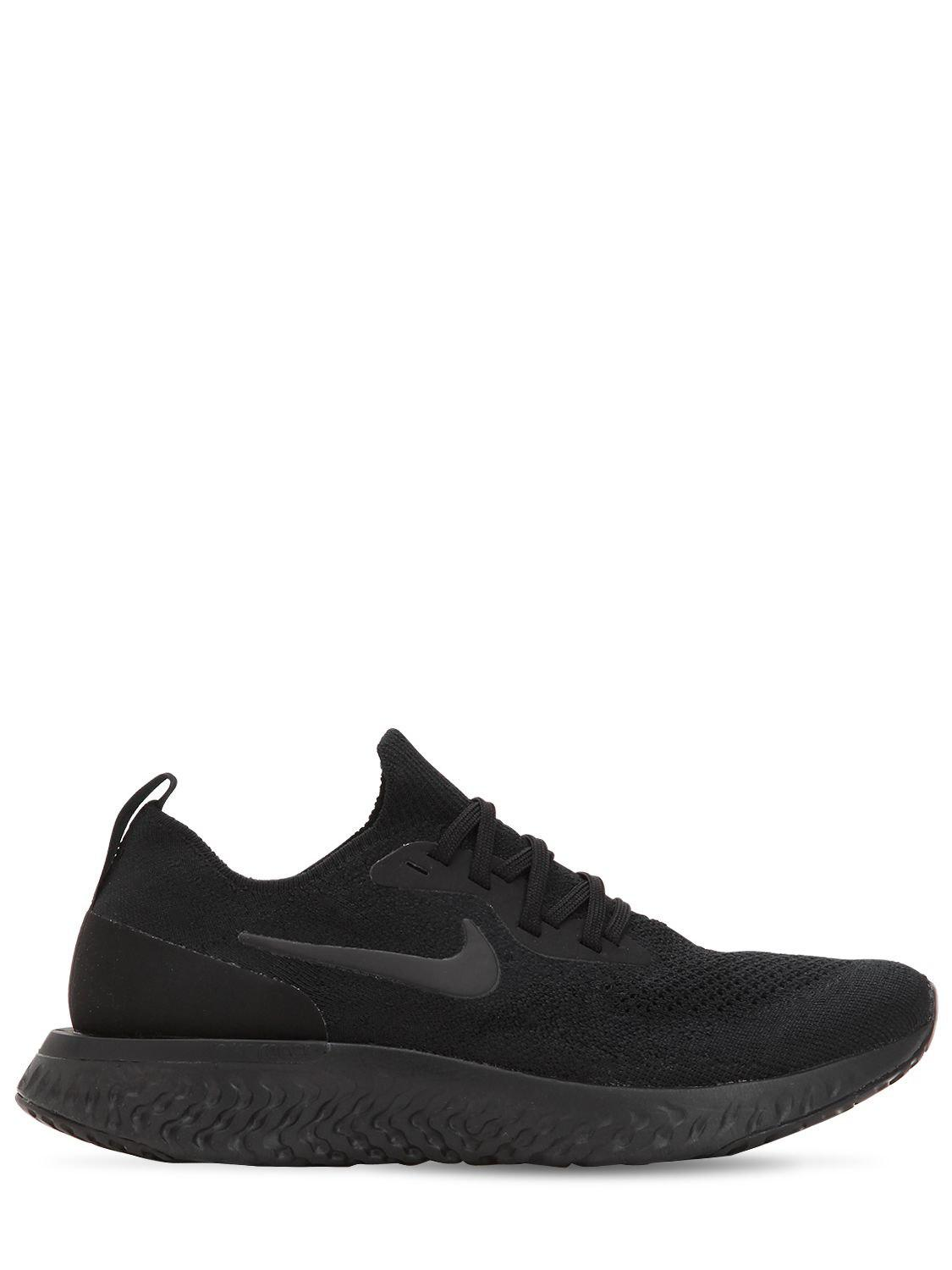 36f1a6790036 Nike Epic React Flyknit Sneakers in Black - Save 12% - Lyst