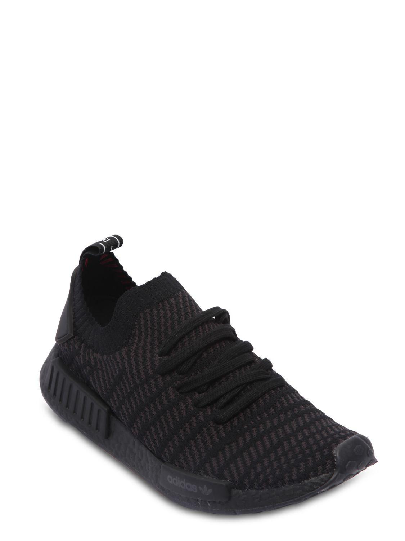 adidas Originals Nmd R1 Stlt Primeknit Sneakers in Black for Men - Save 7%  - Lyst b5363554b