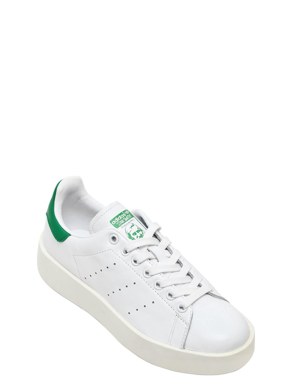 Adidas Originals - White Stan Smith Bold Sneakers - Lyst. View fullscreen 3b8b2f3eb3