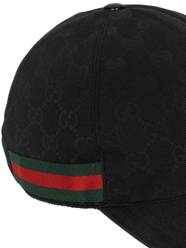 99f357b06dd2e Gucci - Black Original GG Canvas Baseball Hat for Men - Lyst. View  fullscreen