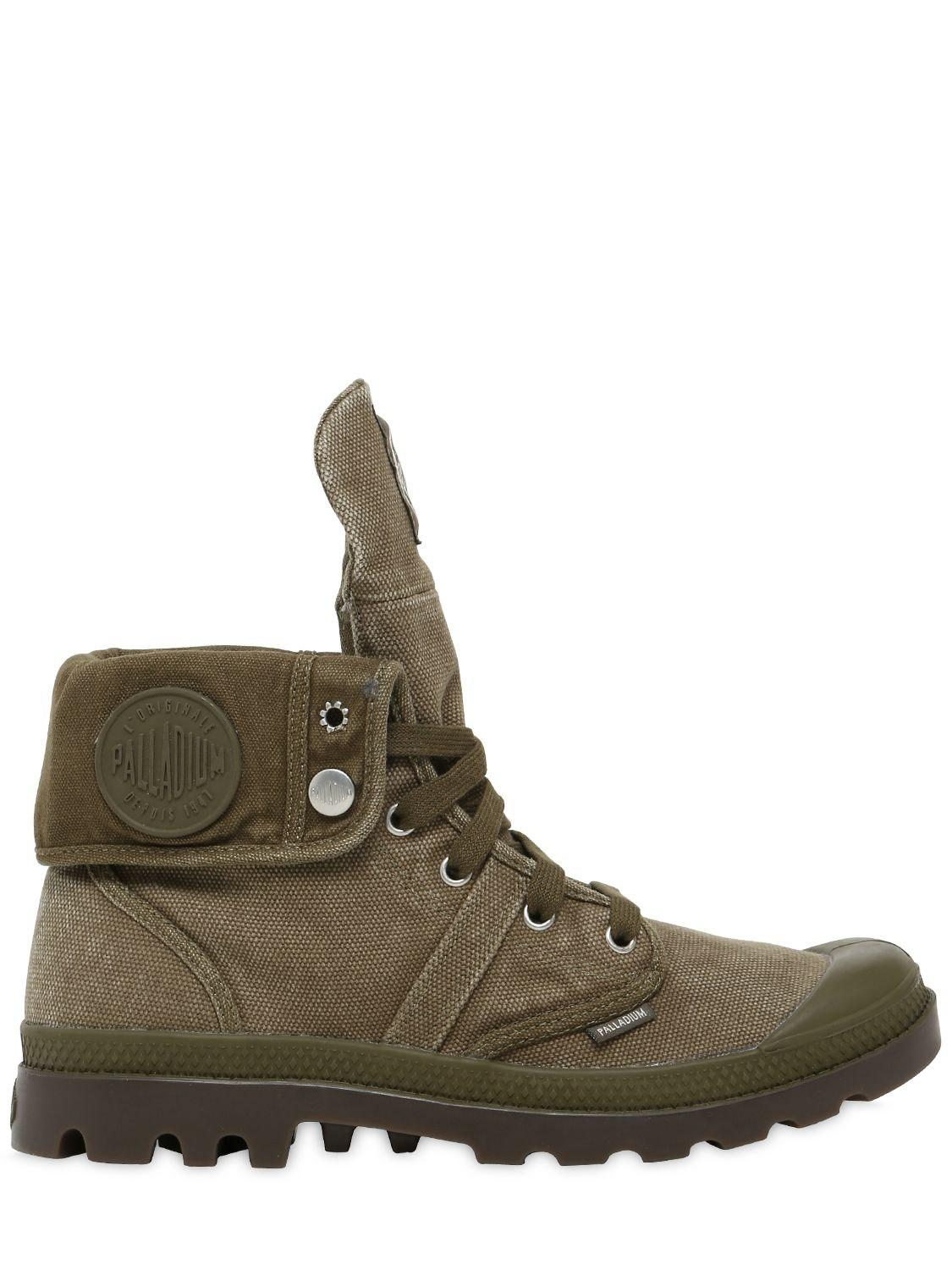 Palladium - Green Pallabrouse Baggy Washed Canvas Boots for Men - Lyst.  View fullscreen f1d5d183a7