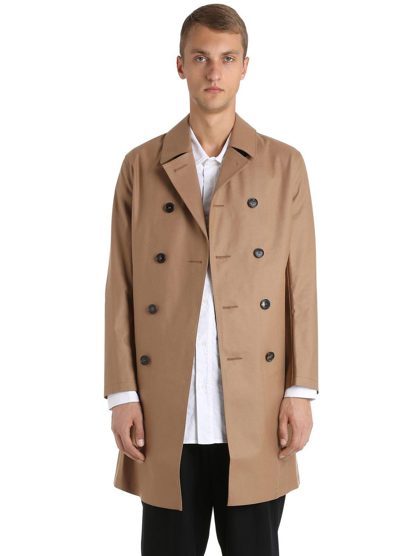 Natural Rubberized Wool Coat for Men Mackintosh in Lyst nX78Bq