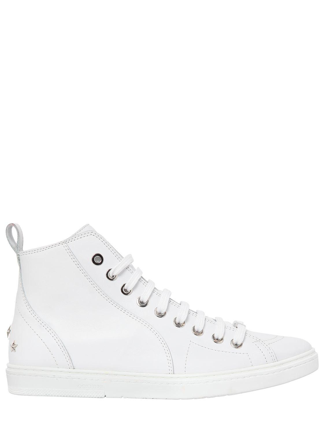 Jimmy chooSMOOTH LEATHER LOW TOP SNEAKERS XYwYEvuZ