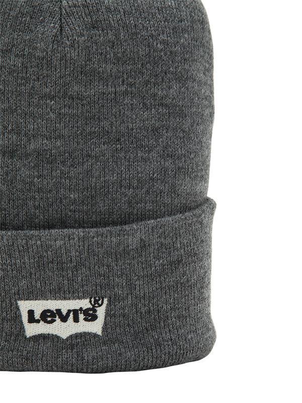 169117cbf5432 Lyst - Levi s Logo Beanie Hat in Gray for Men