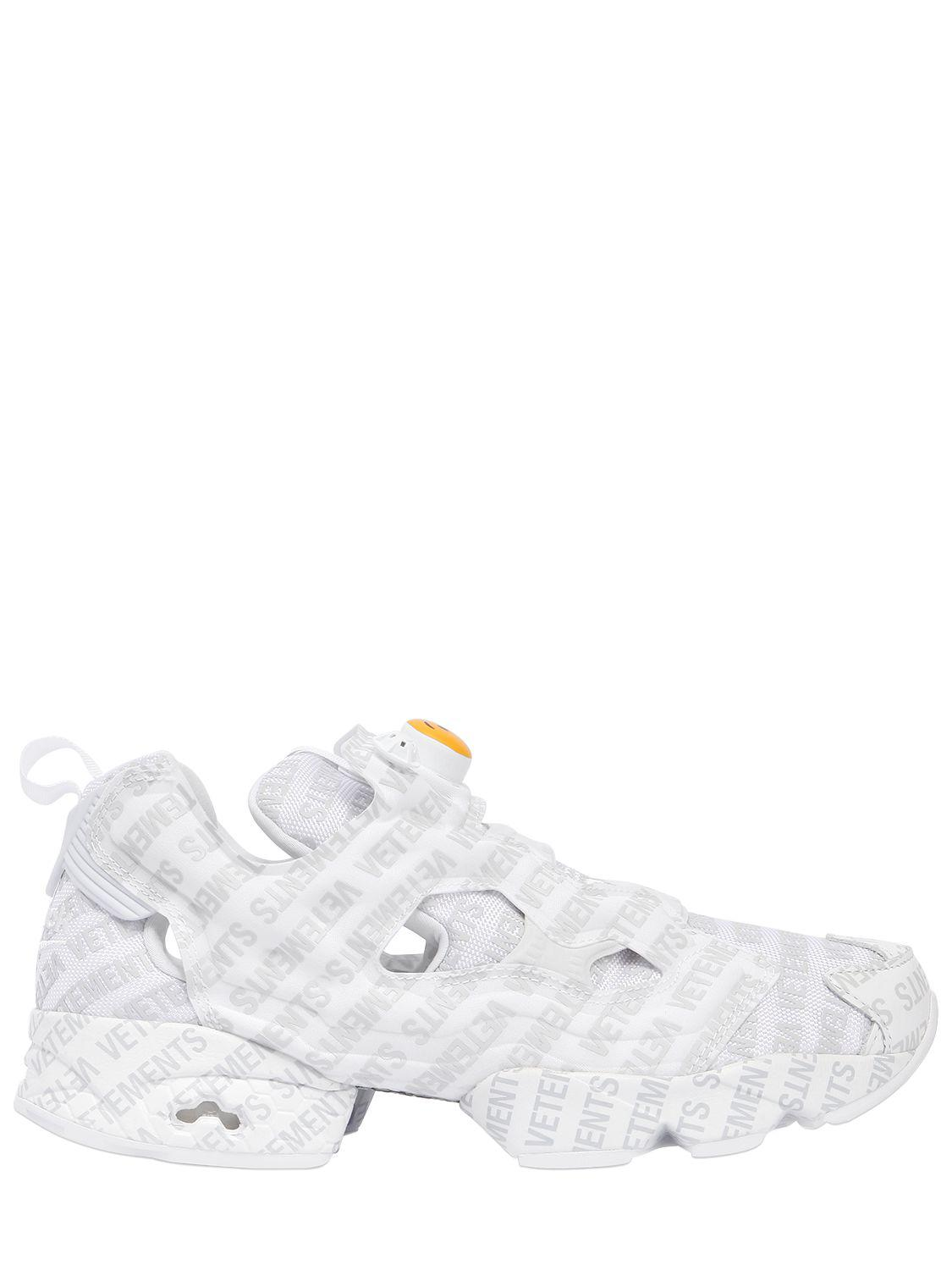 f6eb7dbac661ce Lyst - Vetements Reebok Logo Instapump Fury Sneakers in White for ...