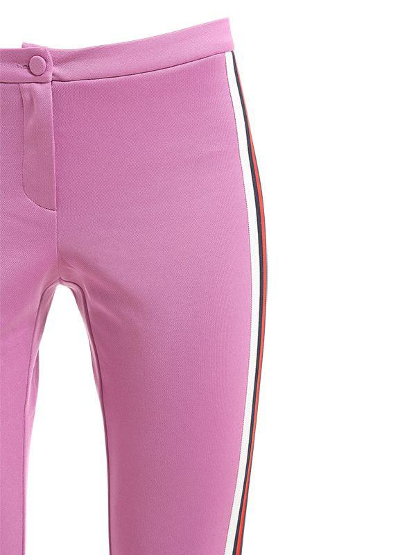 fbe9968b404 Gucci Web Side Bands Techno Jersey Leggings in Pink - Lyst