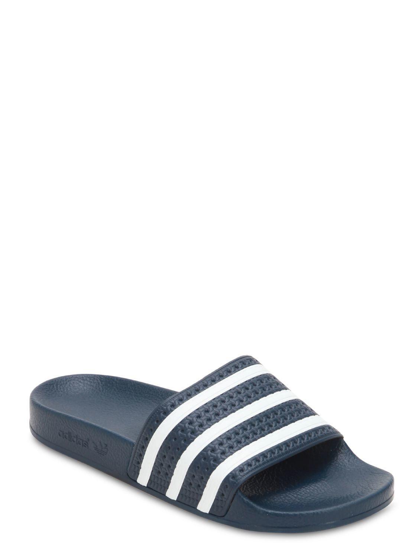 d2b37db376d6 Lyst - adidas Originals Adilette Slide Sandals in Blue for Men