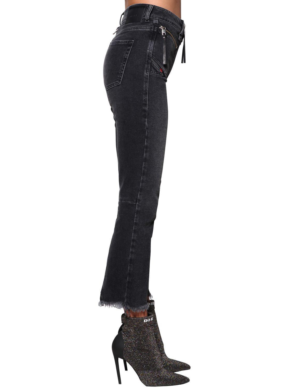 c23b3df91ada DIESEL - Blue Earlie High Rise Cropped Denim Jeans - Lyst. View fullscreen