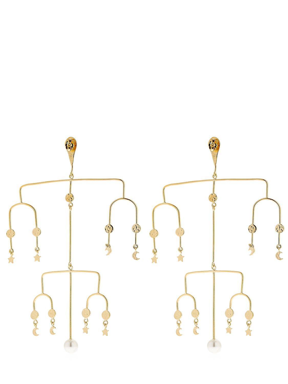 Aurélie Bidermann Large Siroco clip earrings with moon and stars 6pN2kDa