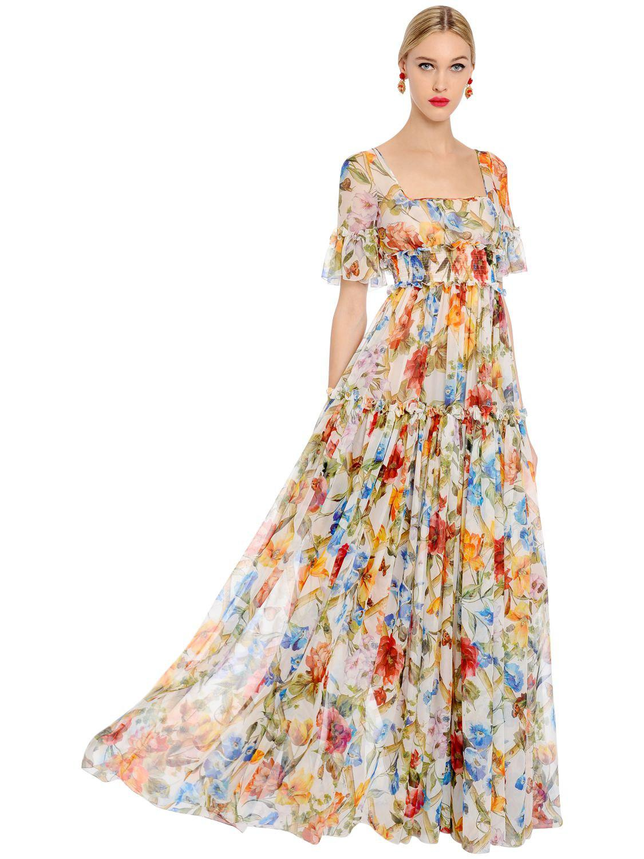Robe soie imprime floral