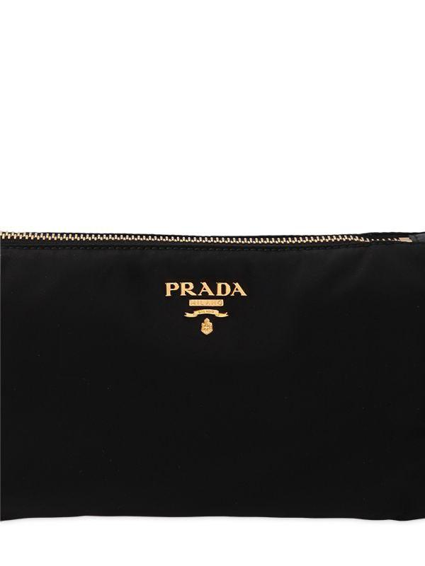 Prada - Black Small Nylon Cosmetic Case W  Wrist Strap - Lyst. View  fullscreen 0b3c1b3bd4151