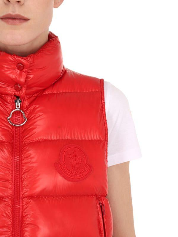 c2f51a52c Moncler Helsinki Quilted Nylon Down Vest in Red - Lyst