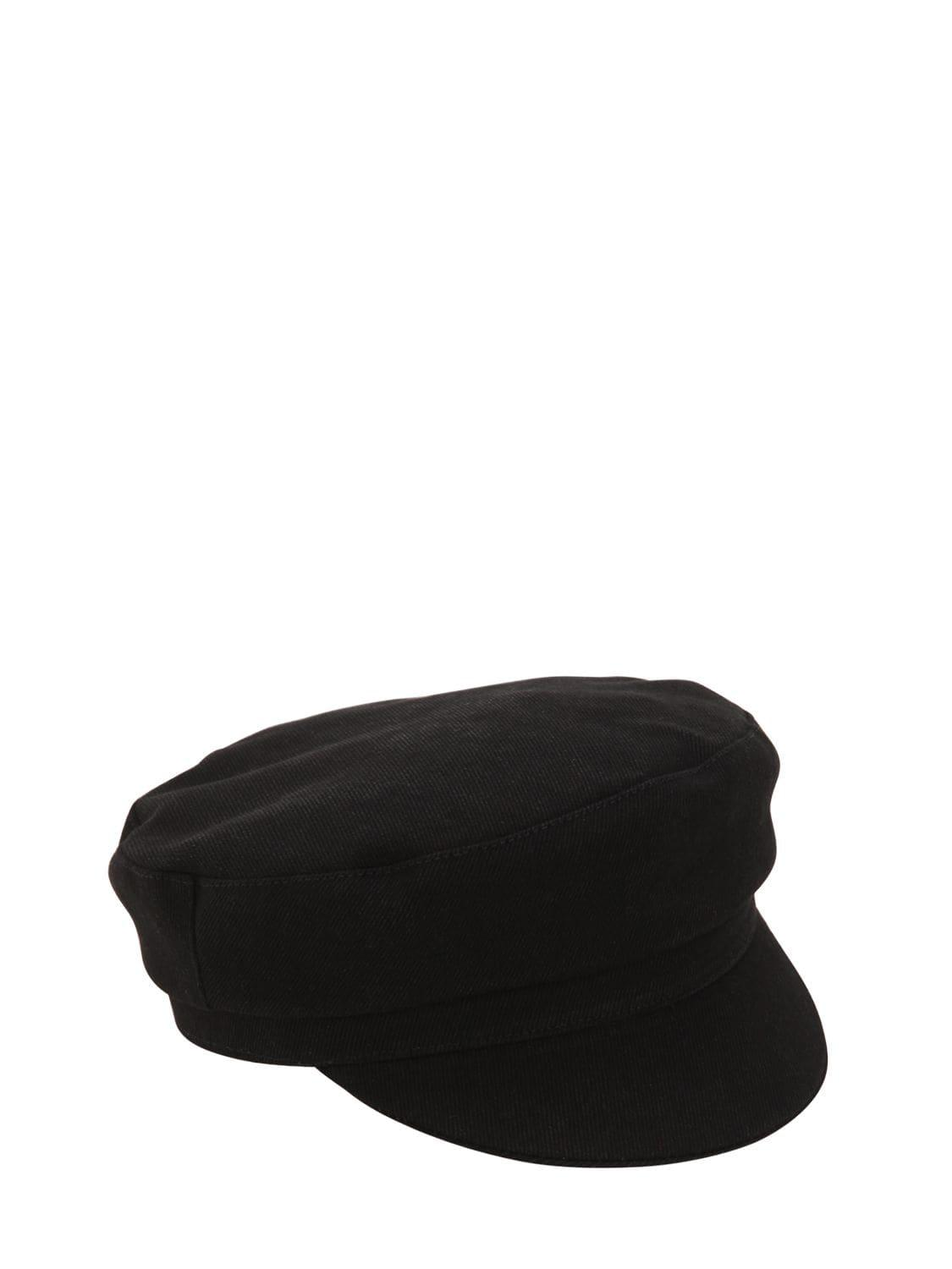 Isabel Marant - Black Cotton Captain s Hat - Lyst. View fullscreen 2ded35117085