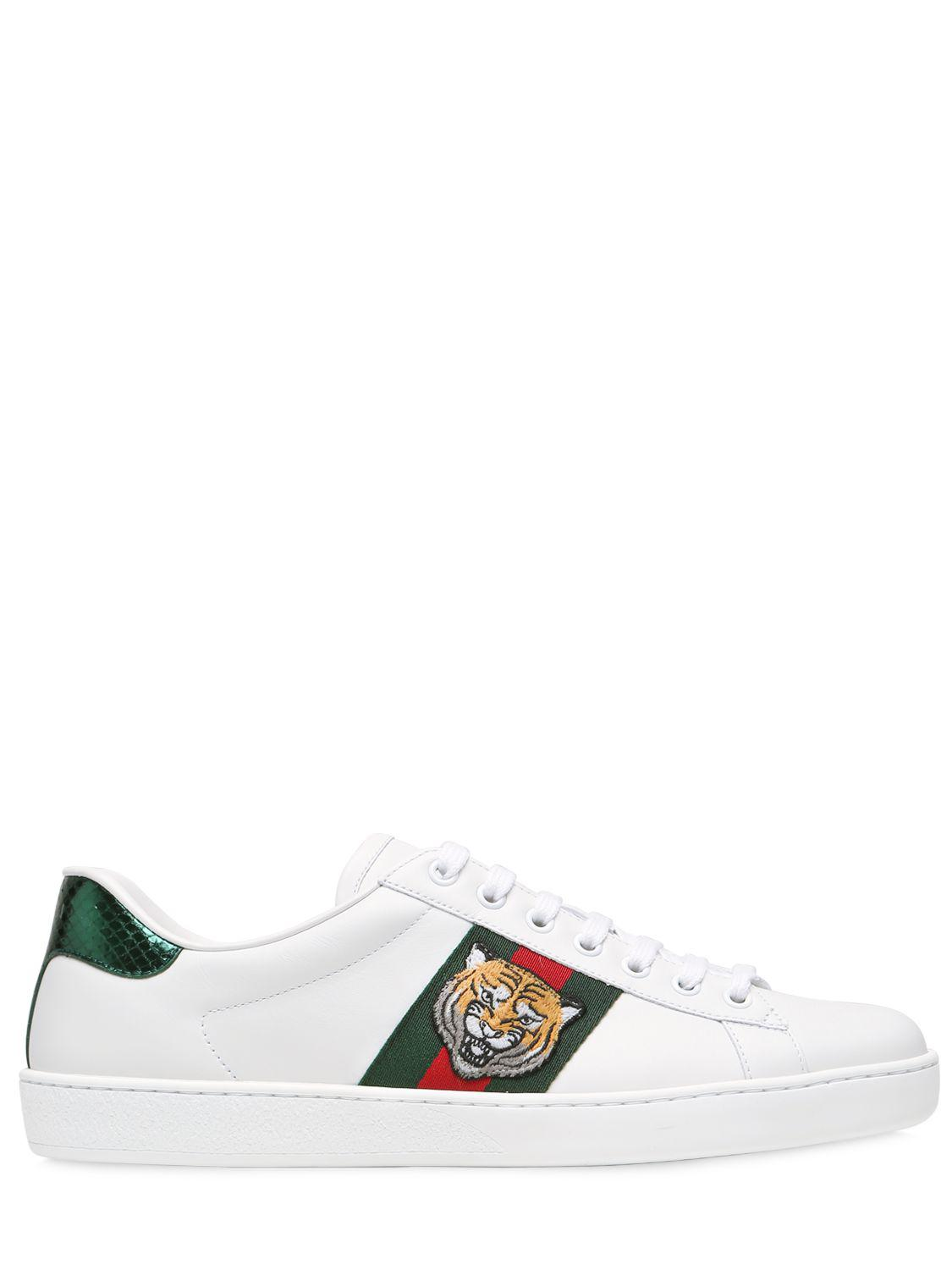 Gucci White Ace Tiger Sneakers r1LNk5W4
