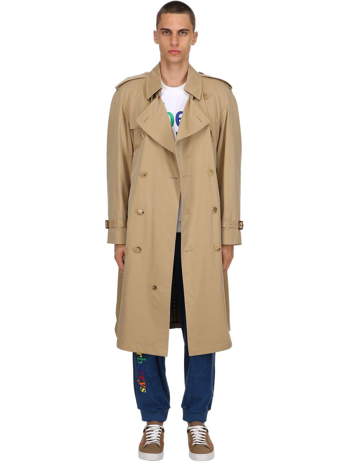 375d9af59 Burberry Westminster Rainbow Check Trench Coat in Natural for Men - Lyst
