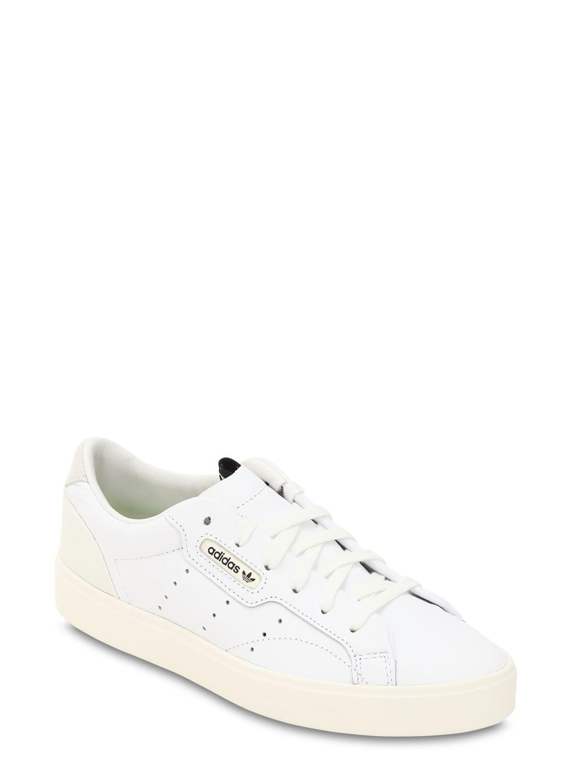 Lyst - adidas Originals Sleek Leather Sneakers in White