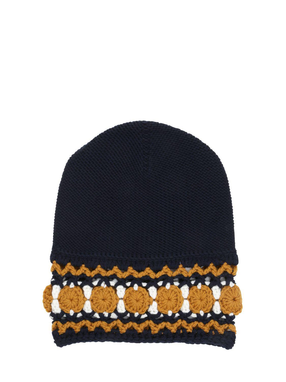 Gucci Wool Knit Beanie Hat in Blue for Men - Lyst 4c65632035fd