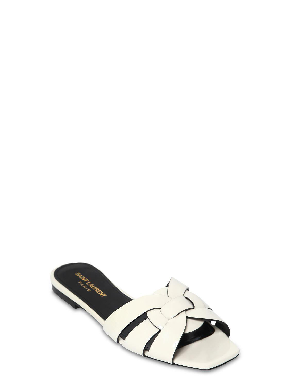 f0ed1fd8fb42 Saint Laurent Boots Flat Tribute 105 in White - Save 51% - Lyst