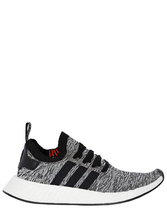 454a64cfb adidas Originals Nmd R2 Primeknit Sneakers in Black for Men - Lyst