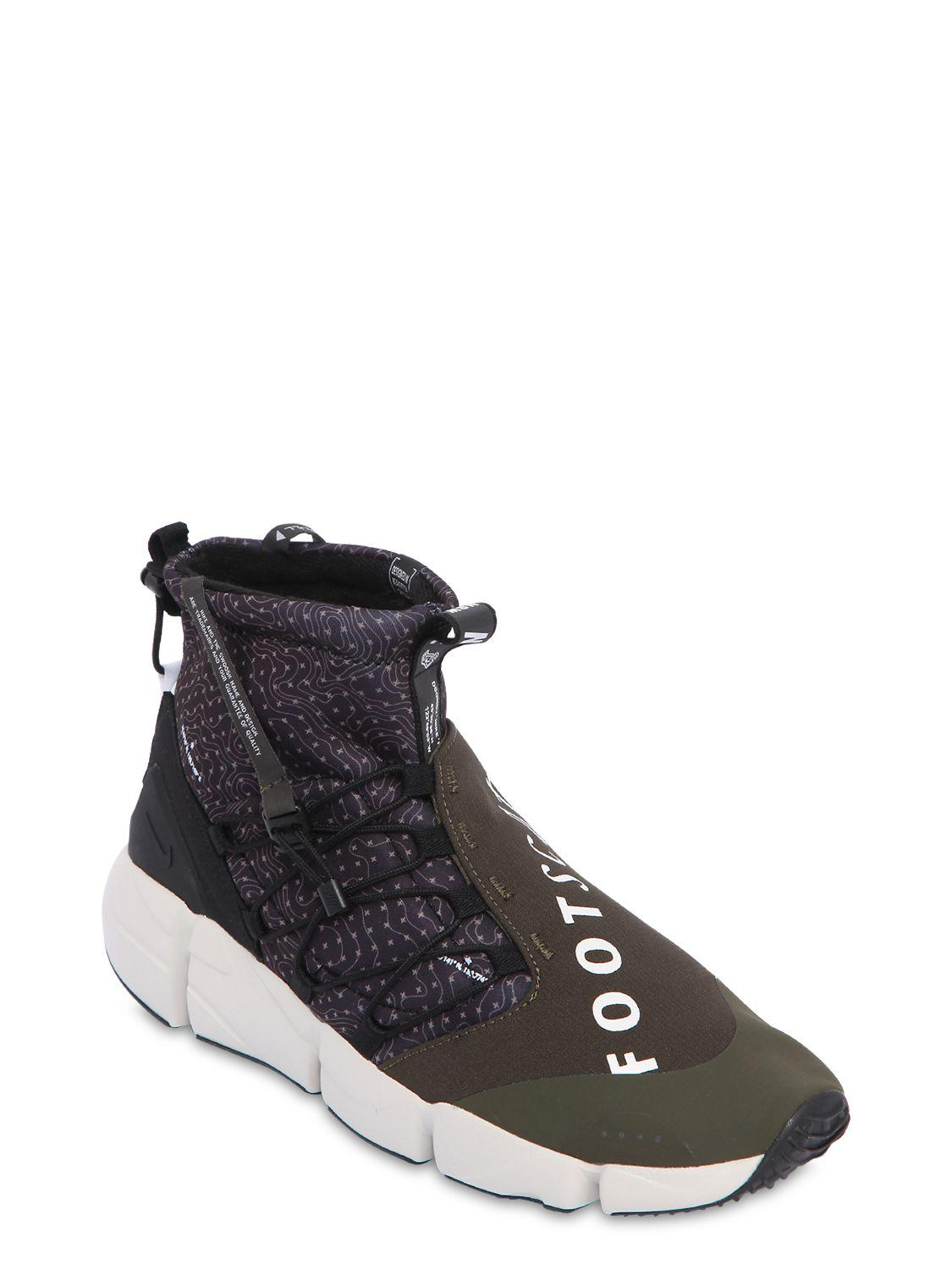 online retailer e51be 5c88b Lyst - Nike Air Footscape Utility Mid Top Sneakers in Black for Men - Save  37%