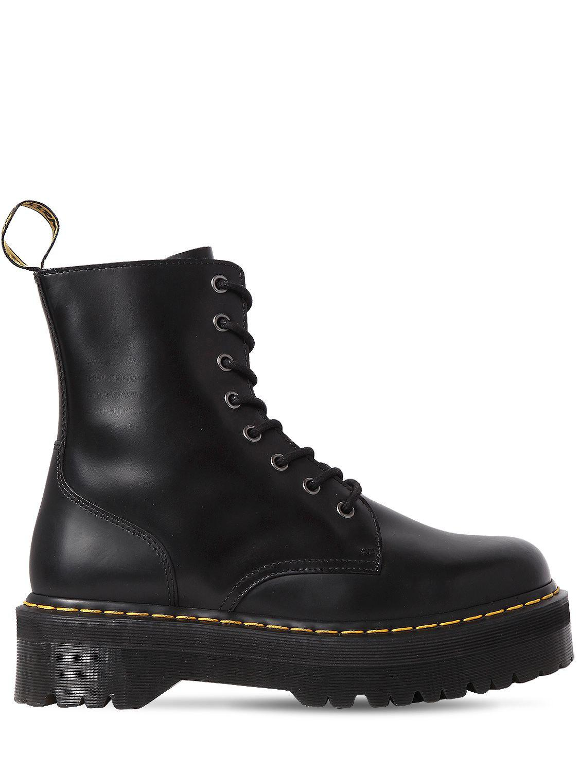 ae0347736db9 Dr. Martens 40mm Jadon Leather Boots in Black - Lyst