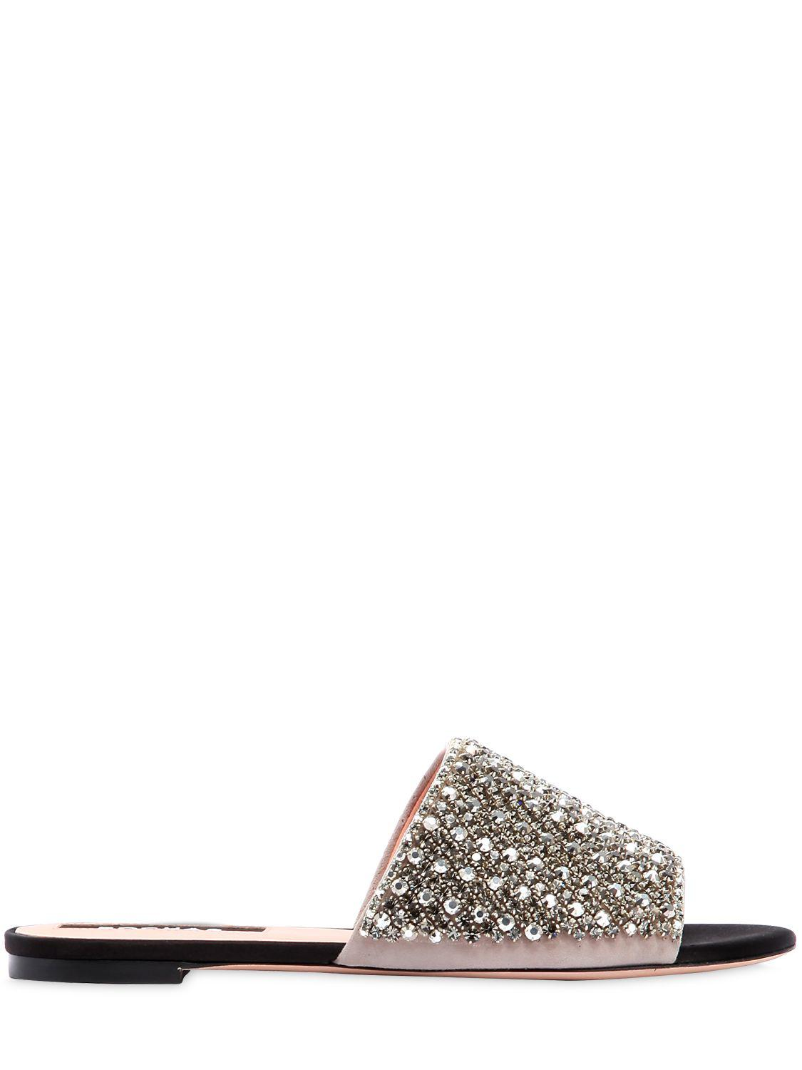 crystal embellished net sandals - Multicolour Rochas Wide Range Of Sale Online Free Shipping Best Store To Get FuwUPWXHiE