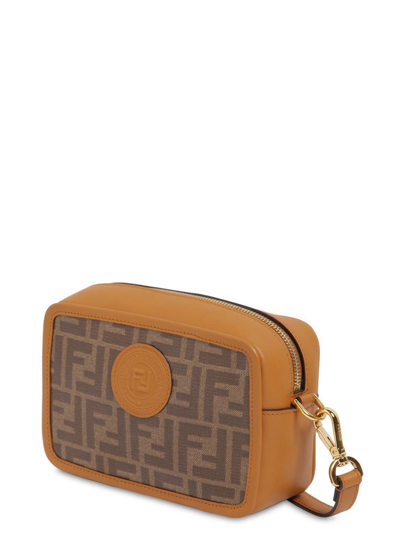 Fendi - Brown Logo Printed Canvas   Leather Camera Bag - Lyst. View  fullscreen 45ec09f4c91e8