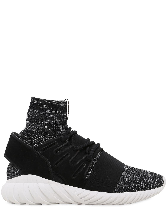 lyst adidas originali tubulare doom primeknit scarpe in nero