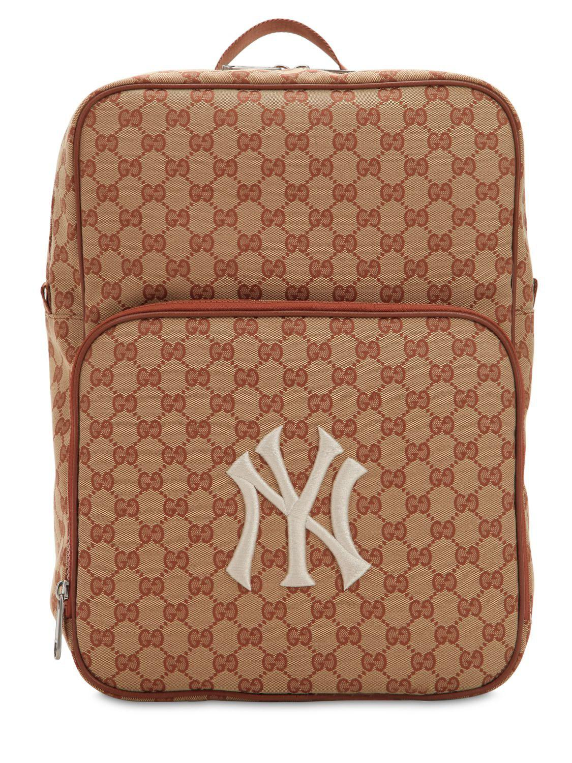 Lyst - Gucci Original Gg Supreme Logo Backpack in Natural for Men 4ef9913cc4
