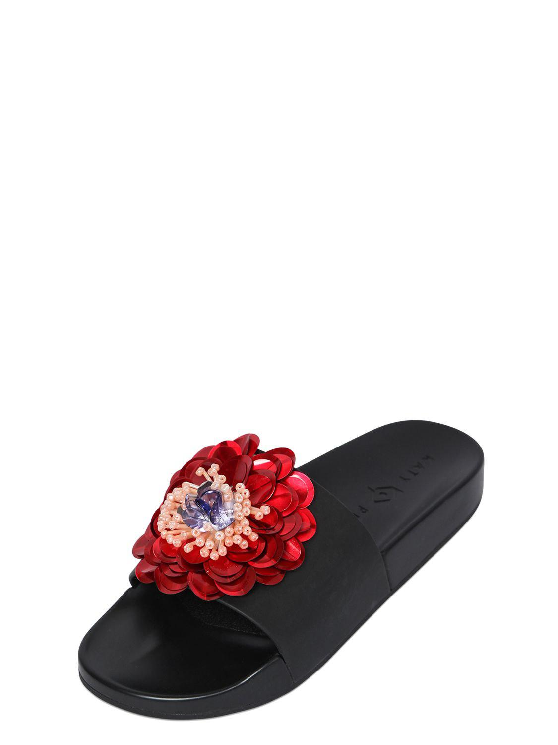 Katy perry 20MM DARCE FLOWER RUBBER SLIDE SANDALS kQmKUzy