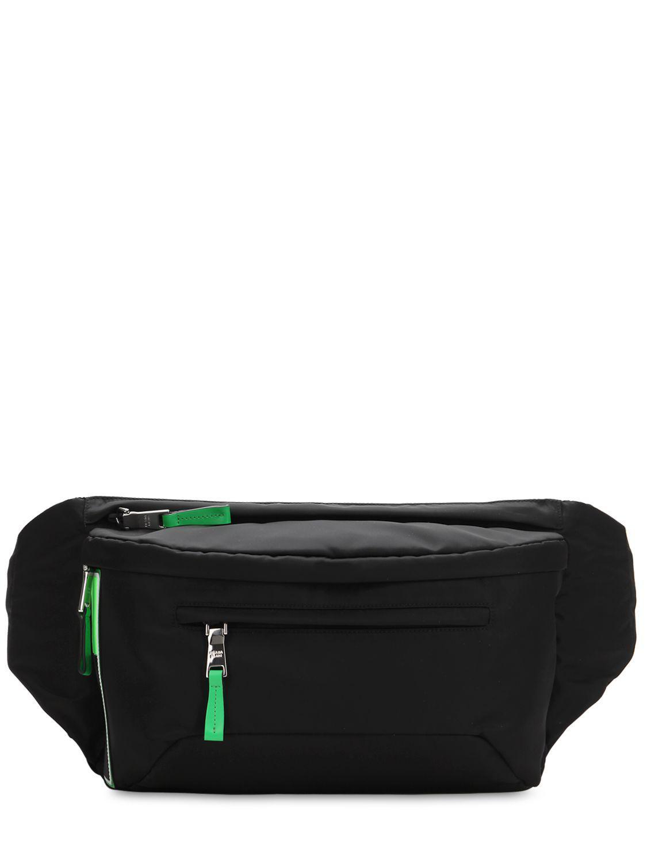 Lyst - Prada Logo Patch Nylon Belt Bag in Black for Men 187a55ff25304