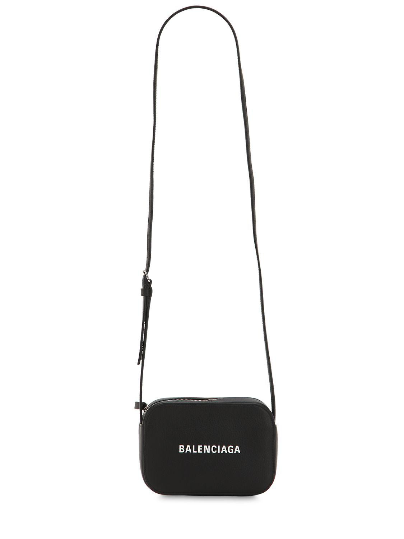 e4f007da0118 Balenciaga - Black Everyday Xs Leather Camera Bag - Lyst. View fullscreen