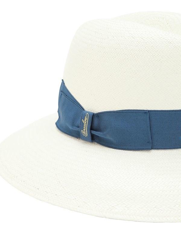Borsalino Claudette Panama Fine Straw Hat in Blue - Lyst df1a73ca526e