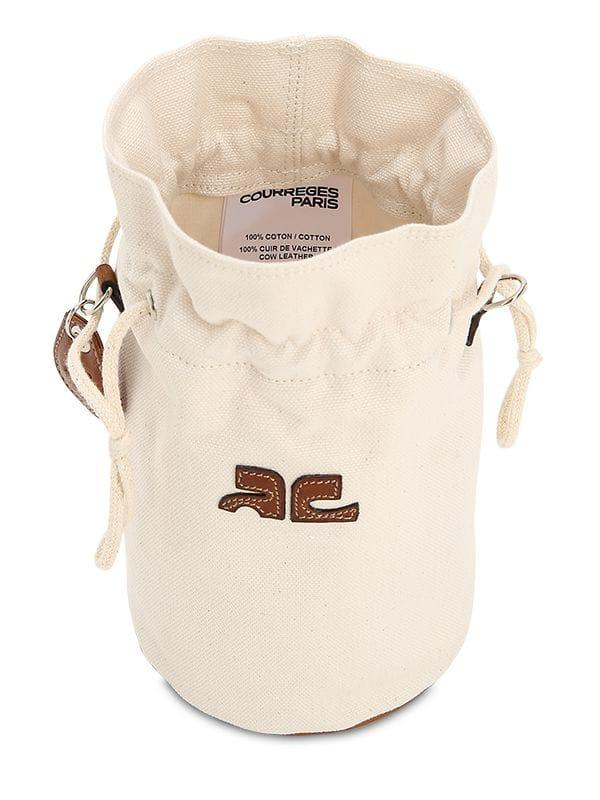 b8cf12c86 Courreges Mini Iconic Cotton Canvas Shoulder Bag in Natural - Lyst