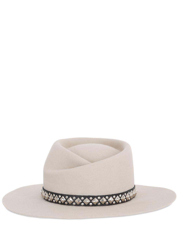 Gladys Tamez Millinery Zodiac Velour Felt Hat in Natural - Lyst e87e9eb5d410