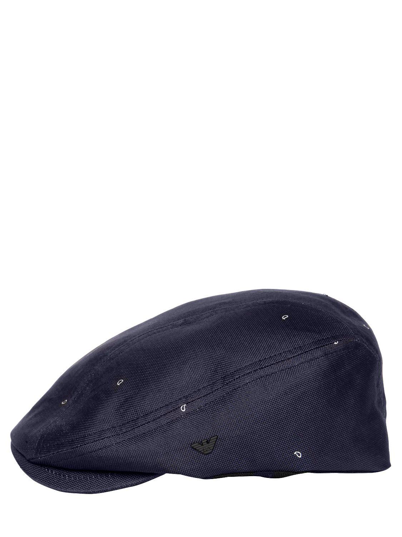 b8770631f69 Lyst - Emporio Armani Paisley Jacquard Flat Cap in Blue for Men