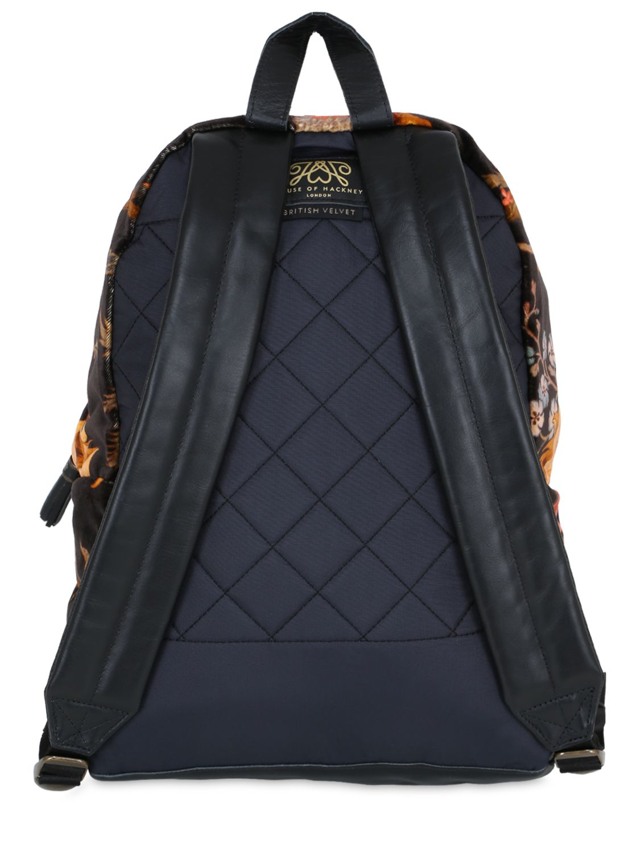 Eastpak 24l House Of Hackney Velvet Backpack In Blue Lyst