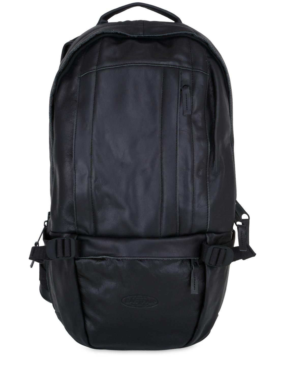 Leather Eastpak Backpack: Eastpak Floid Leather Backpack In Multicolor For Men