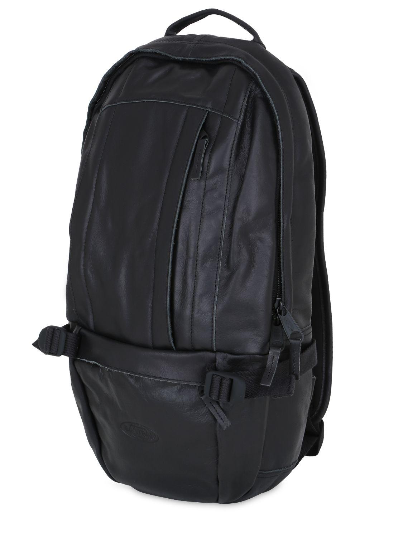 Leather Eastpak Backpack: Eastpak Floid Leather Backpack In Black For Men