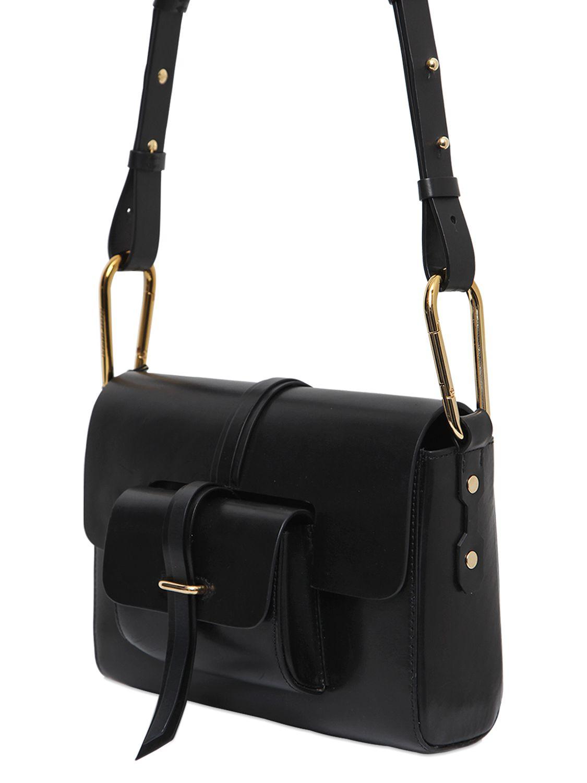 Lyst - Isabel Marant Delano Day Leather Shoulder Bag in Black 8e3cd5f4d0