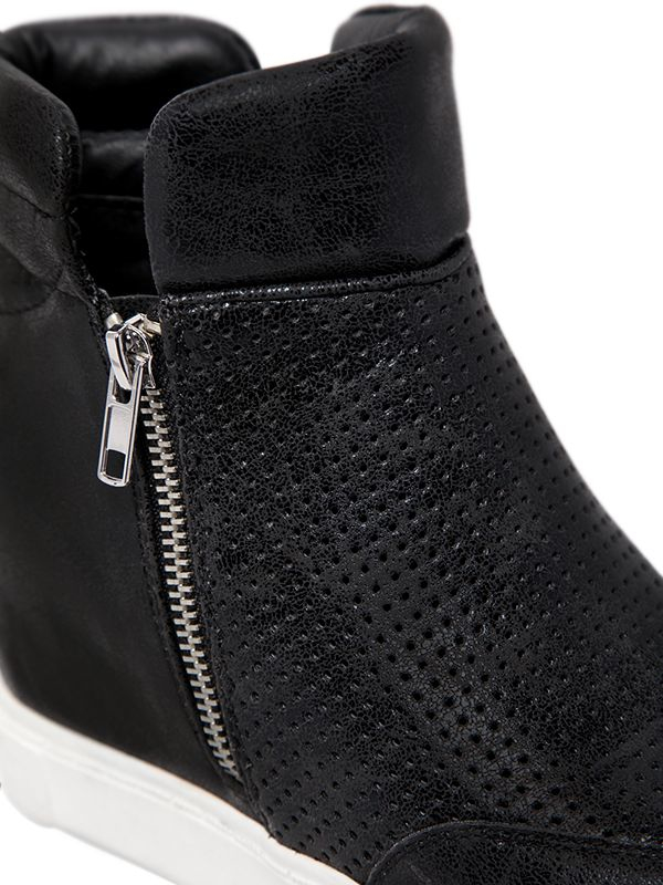 Lyst Steve Madden 80mm Perforated Wedge Sneaker Boots In