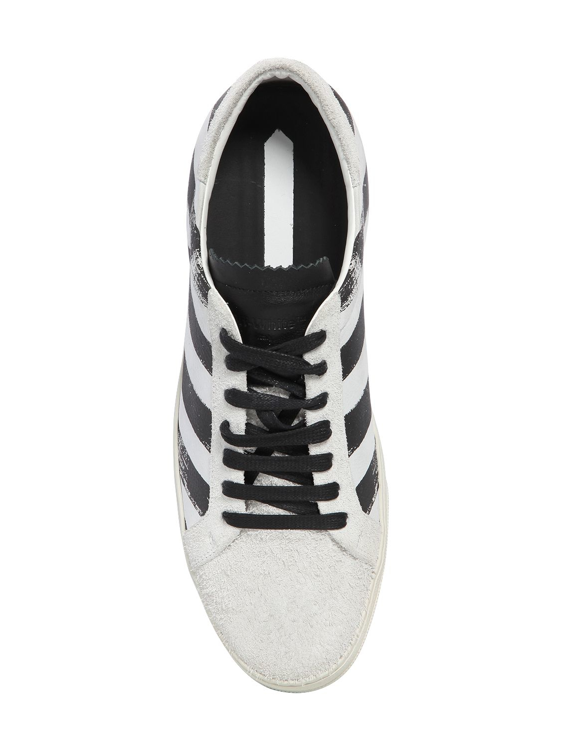 Off White Brushed Stripes Shoes