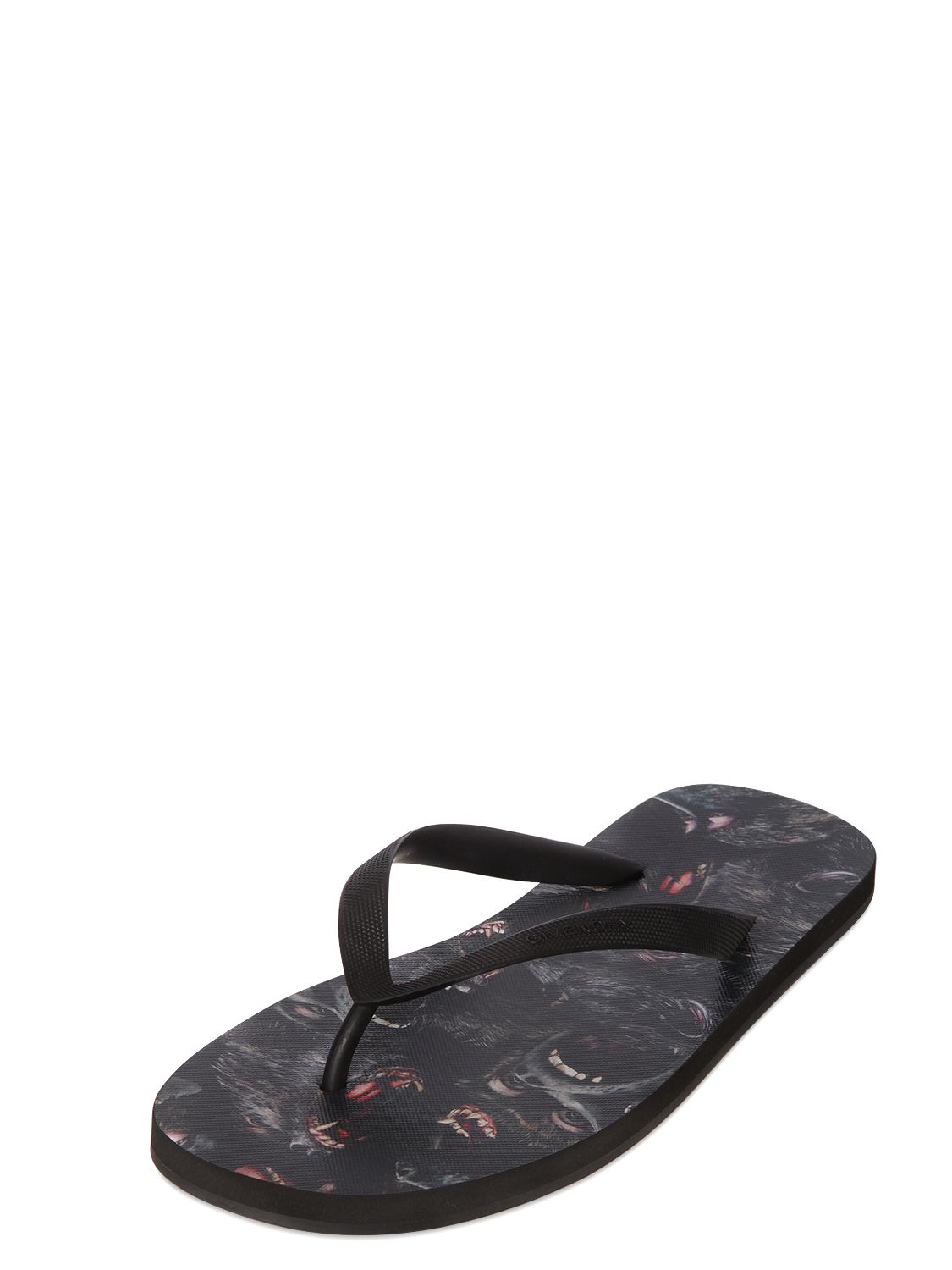 a472a12a8bc7 Lyst - Givenchy Monkeys Printed Insole Flip Flops in Black for Men