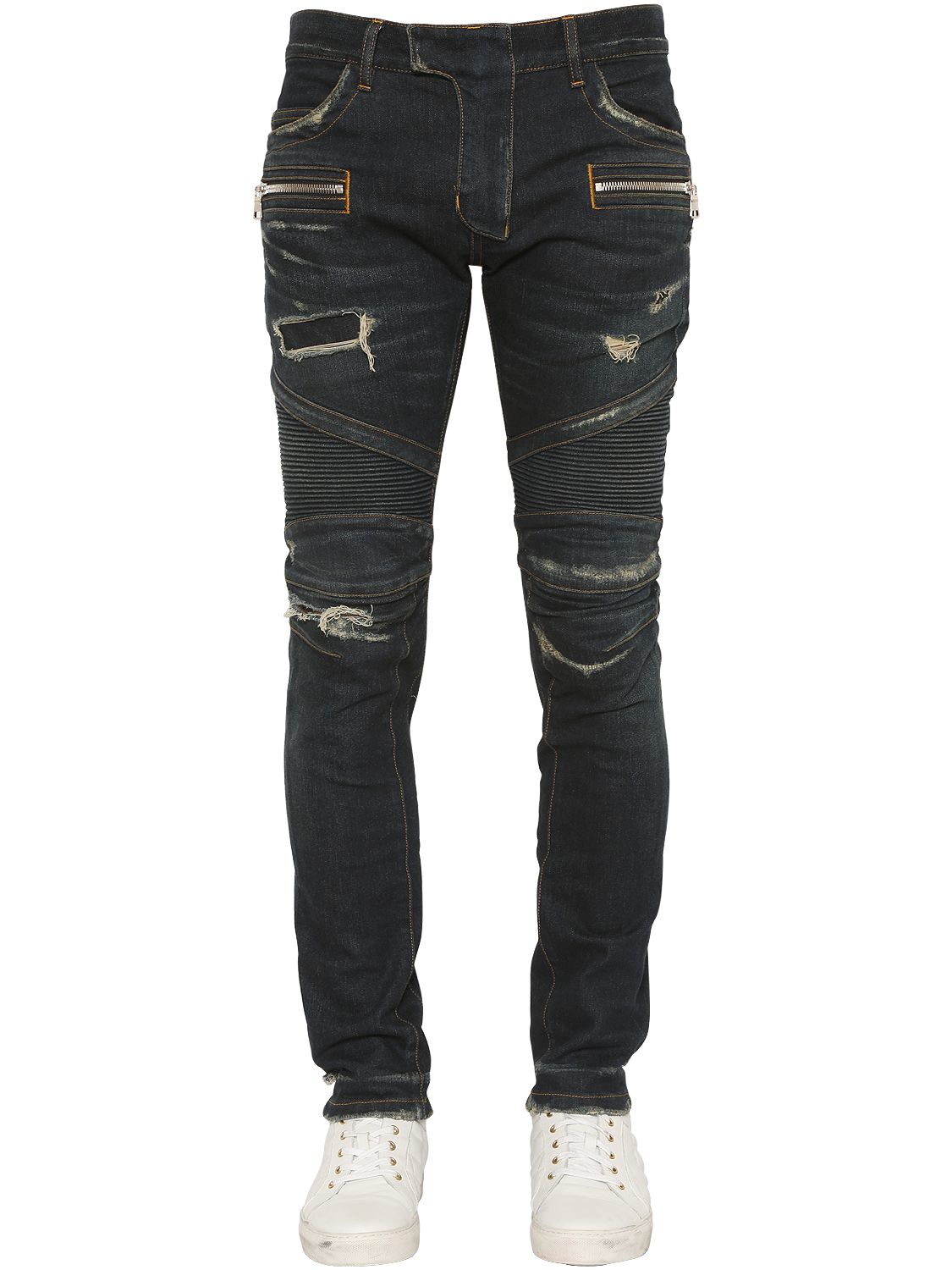 Free shipping BOTH ways on pierre balmain faded biker jeans denim blue 2, from our vast selection of styles. Fast delivery, and 24/7/ real-person service with a smile. Click or call
