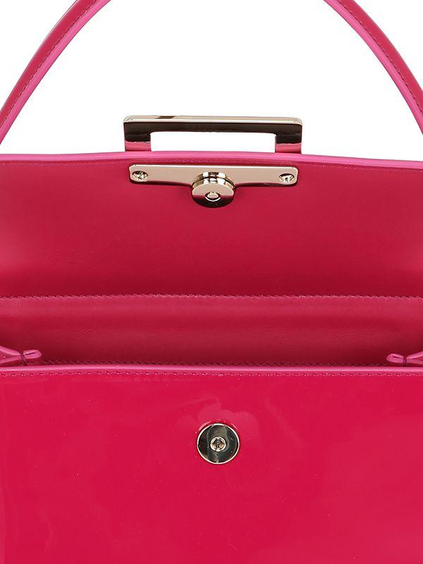 53ffb3afe8 Lyst - Roger Vivier Mini Miss Viv Patent Leather Bag in Pink