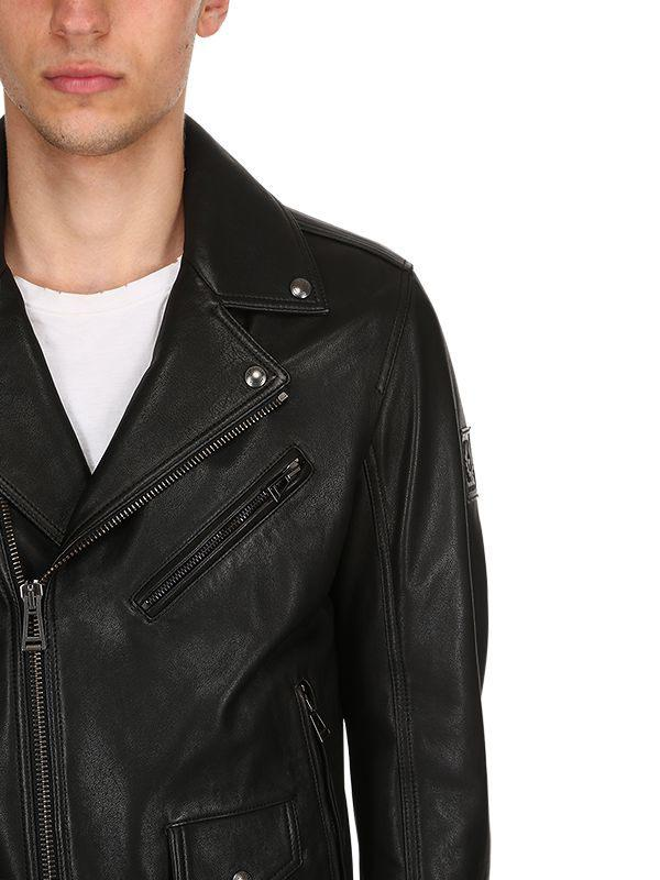 eac42facca95 Belstaff - Black Fenway Leather Jacket for Men - Lyst. View fullscreen