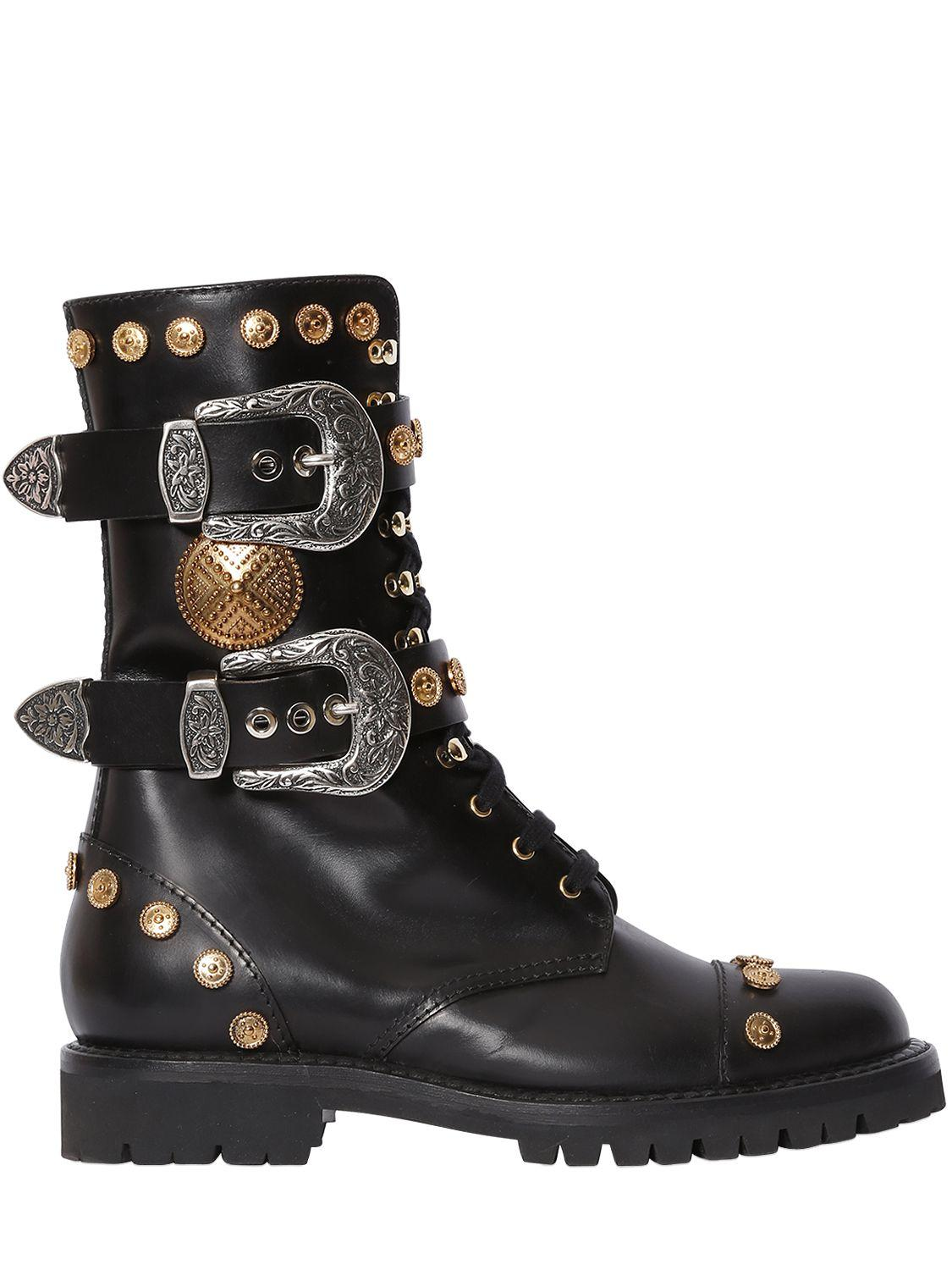 Creative Breckelle39s Women39s 39Rocker2439 Black Studded Military Combat