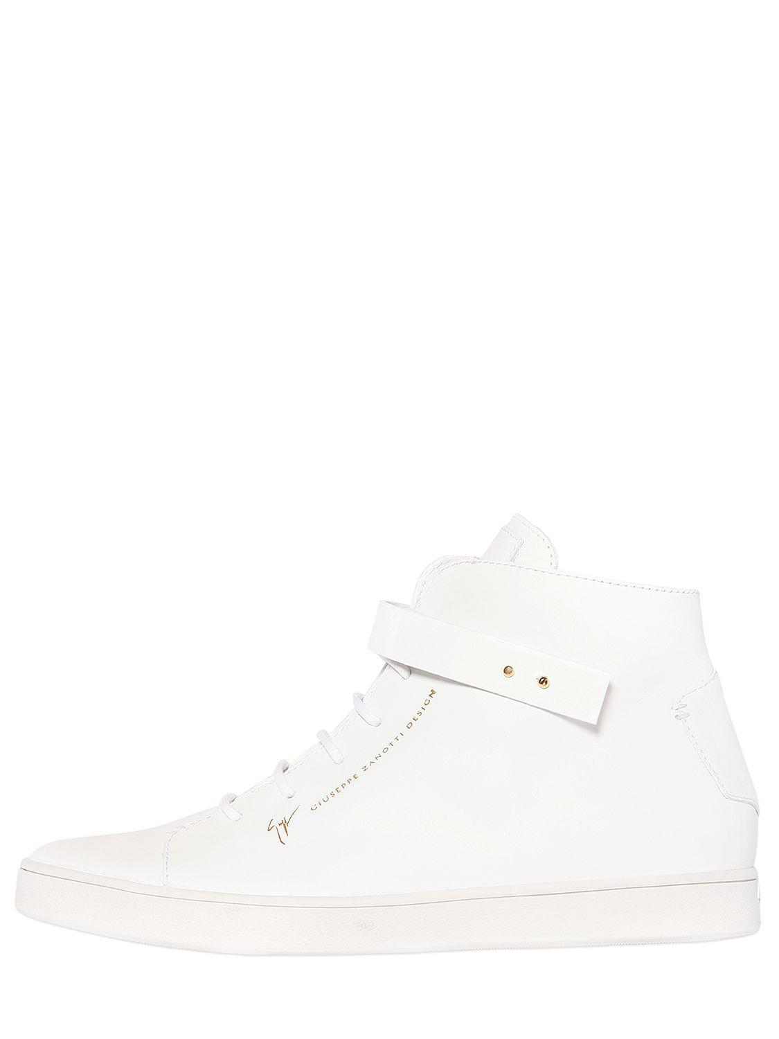 Giuseppe ZanottiPATENT BANGLE BRUSHED LEATHER SNEAKERS knEyLEgnFS