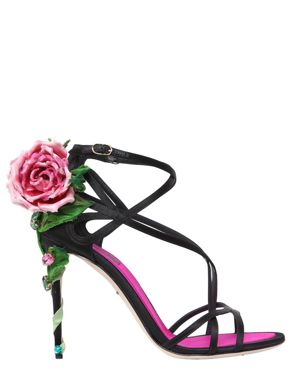 Dolce & Gabbana 105MM KEIRA ROSE SATIN SANDALS ruXyNESEdd